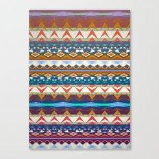Aztec Geometry Canvas Print