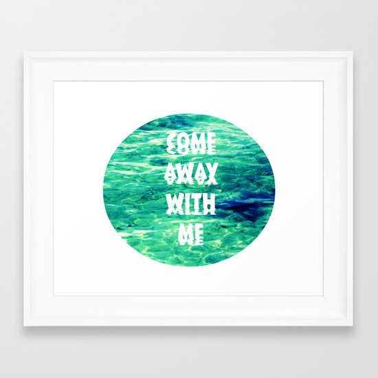 Come Away... Framed Art Print
