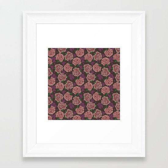 Stitch x Stitch Framed Art Print