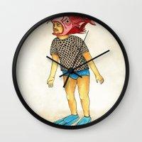 Pescado Wall Clock