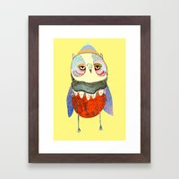 Owl Chick Framed Art Print