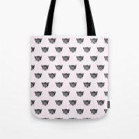 Polka Cat Tote Bag
