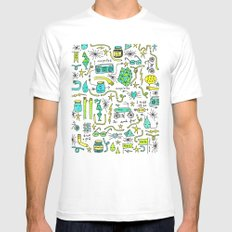 to and fro Mens Fitted Tee White SMALL