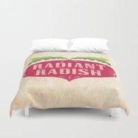 Radiant Radish Duvet Cover