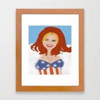 Ginger. Framed Art Print