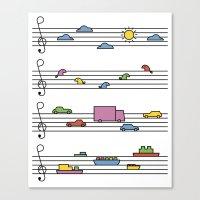 Life In Tune Canvas Print