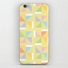 PINWHEELS - YELLOW iPhone & iPod Skin