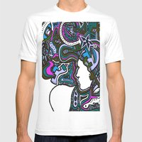 Purple Techno Mens Fitted Tee White SMALL