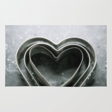 Hearts Together - Vintage Bakeware  Rug