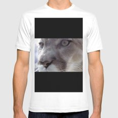 Cougar White Mens Fitted Tee SMALL