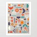 Flora & Fauna Art Print