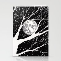 moonlight shadow Stationery Cards