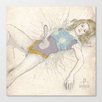 Barbarella, Corndogs in Space Canvas Print