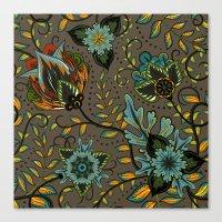 Boho Floral Pattern 17 Canvas Print