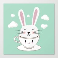Take A Cup Of Bunny Canvas Print
