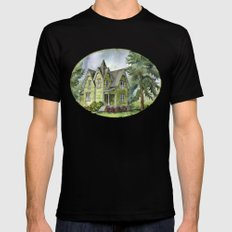 The Green Clapboard House Black Mens Fitted Tee SMALL