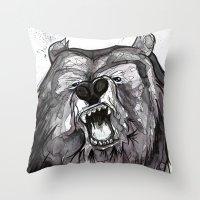 Snarl to Feel Good Throw Pillow