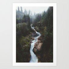 Lava Canyon Art Print