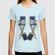No Direction Womens Fitted Tee Light Blue SMALL