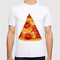 PIZZA Mens Fitted Tee Ash Grey SMALL