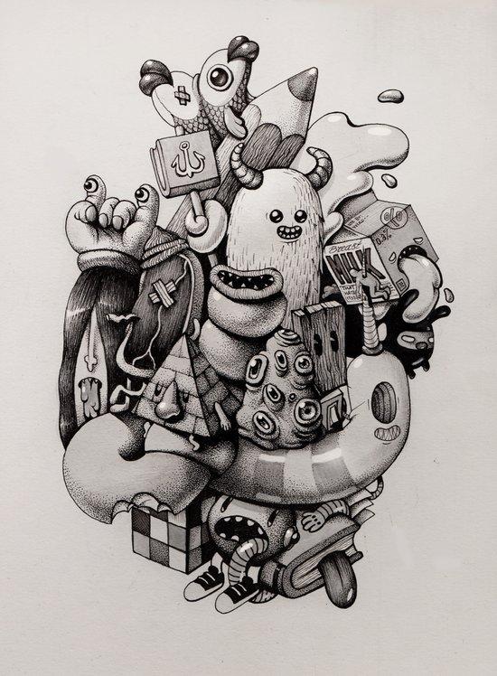 doodles Art Print