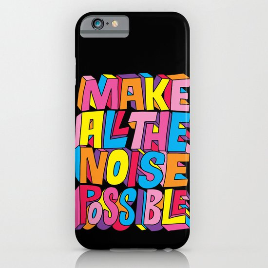 Make all the noise possible! iPhone & iPod Case