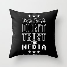 WE THE PEOPLE DON'T TRUST THE MEDIA Throw Pillow