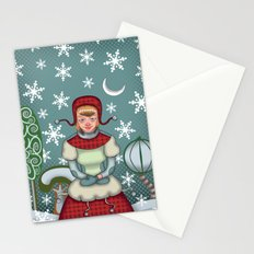 peaceful snow  Stationery Cards