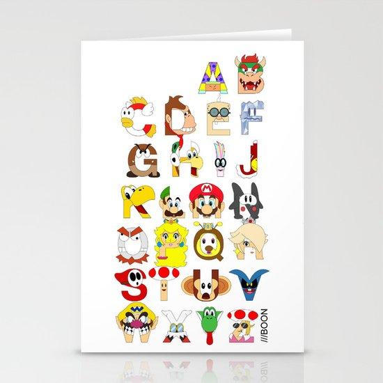 Super Mario Alphabet Stationery Card