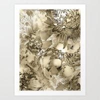 Proud Dahlias 3 Art Print