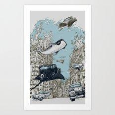 The Streets of Atlantis Art Print