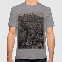 the city Mens Fitted Tee Athletic Grey SMALL
