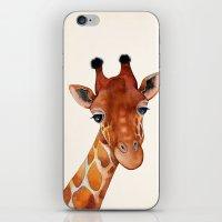Giraffe Watercolor iPhone & iPod Skin