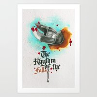 The rhythm of the falls Art Print