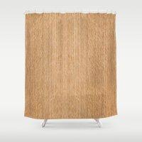Red Oak Wood Shower Curtain
