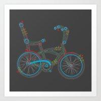 Aztec Bicycle Art Print
