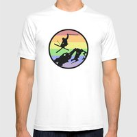 skiing 2 Mens Fitted Tee White SMALL