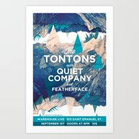 The Tontons & Quiet Company Concert Poster Art Print