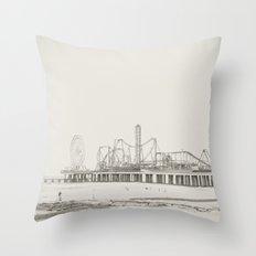 Old School Throw Pillow
