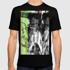 stop lookinf SMALL Black Mens Fitted Tee