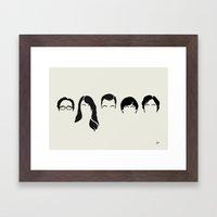 MY-BIG-BANG-HAIR-THEORY Framed Art Print