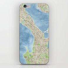 City Map Madison Wisconsin watercolor  iPhone & iPod Skin