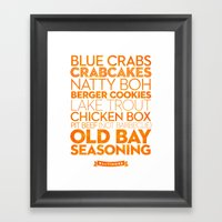 Baltimore — Delicious … Framed Art Print