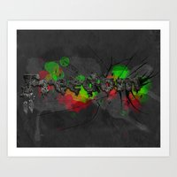 Fragments of freedom Art Print