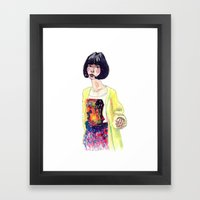 Fashion Illustration . Oriental Girl Framed Art Print
