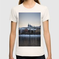 Prague Castle Womens Fitted Tee Natural SMALL
