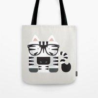 Hipster Zebra Art Print Tote Bag