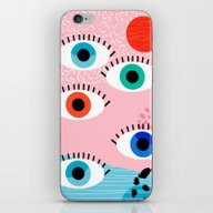 Noob - Eyes Memphis Retr… iPhone & iPod Skin