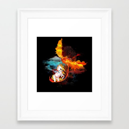 EPIC BATTLE OF COLORS Framed Art Print