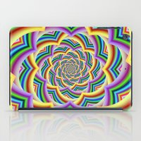 Colorful Curved Chevron Spiral iPad Case